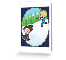The Winter Sledder Greeting Card