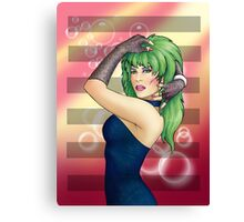 Glam Rock Pinup - Pizzaz Canvas Print