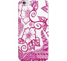 Pink Flower Zentangle iPhone Case/Skin
