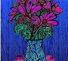 Valentines Vase - Card  by MelDavies