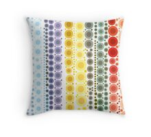 hipster fashion trendy Pastel colors rainbow bubbles Throw Pillow