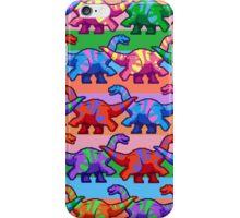 Rainbow Pixelsaurs iPhone Case/Skin