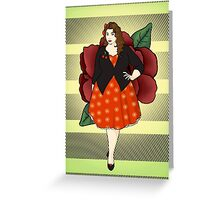 Fat Rockabilly Chick Greeting Card