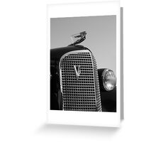 1937 Cadilac V12 Greeting Card