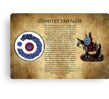 Comites Taifalos - Heraldic Banner Canvas Print