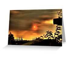 Sun and Smoke Greeting Card
