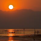 Sunset over Inle Lake by James Godber