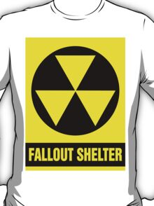 Nuclear Fallout Shelter Sign T-Shirt