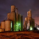 Grain Elevators, Ada, Oh by HeatherMScholl