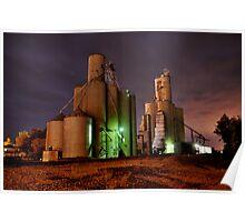 Grain Elevators, Ada, Oh Poster