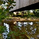 Covered Bridge Reflection by HeatherMScholl
