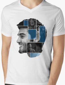 Tyler Hoechlin Face Squares Mens V-Neck T-Shirt