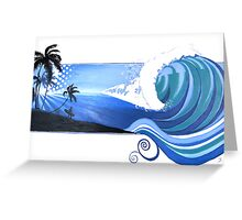 """Big Wednesday"" Endless Summer Series Greeting Card"