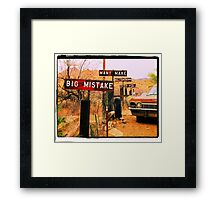 Big Mistake Framed Print