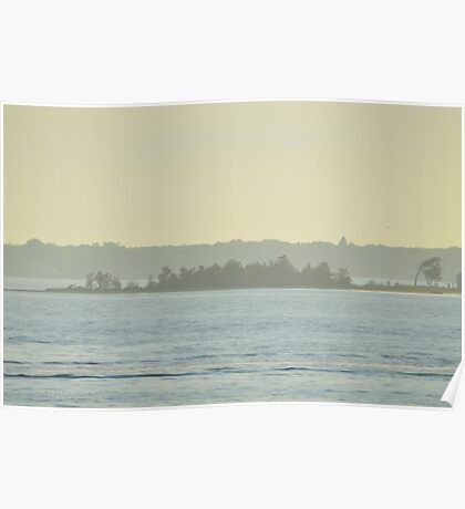 Misty East Point | Hampton Bays, New York  Poster