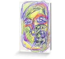 color me eyes Greeting Card