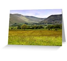 Back of Skiddaw Mountain Greeting Card