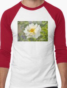 A white bloom. Men's Baseball ¾ T-Shirt