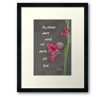 Joy Blooms Framed Print