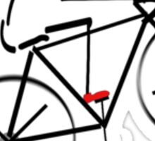 Stylized Bicyclist Sticker