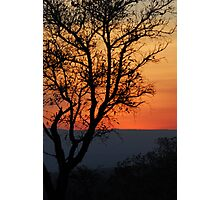 African winter sunset Photographic Print