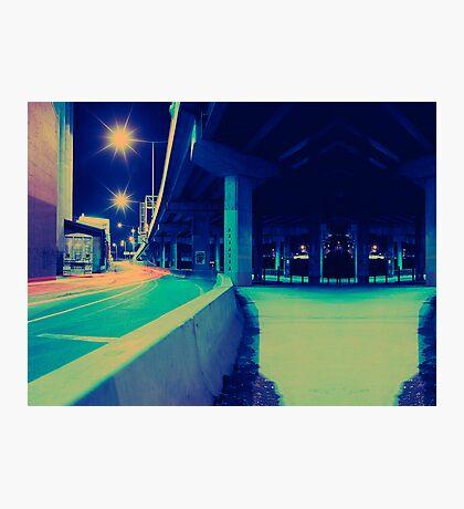 Urban Night Scene Photographic Print