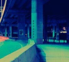 Urban Night Scene Sticker