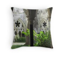 Garden through the window Throw Pillow