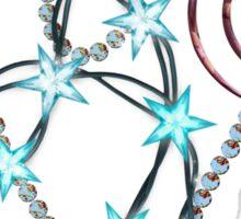 Spiral Hearts and Stars Sticker
