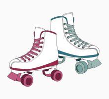 Roller Derby Skates in Magenta by Katie Tandlmayer