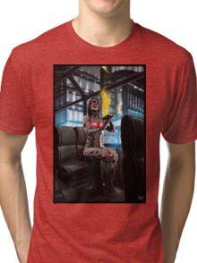 Cyberpunk Painting 056 Tri-blend T-Shirt