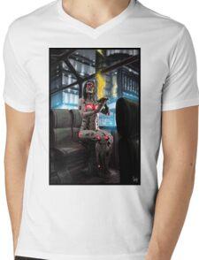 Cyberpunk Painting 056 Mens V-Neck T-Shirt