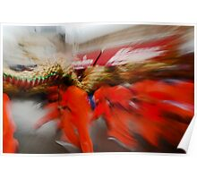 Chinese New Year Zoom Blur Poster