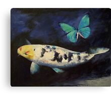 Bekko Koi and Butterfly Canvas Print