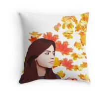 Clara Oswald: Impossible Girl Throw Pillow