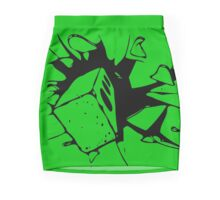 Brick Breaking Window by Chillee Wilson Mini Skirt