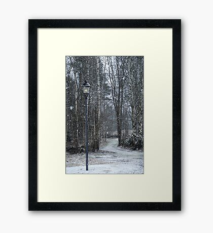 Snow-time Framed Print