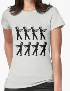 March of the Zombie TV Guys by Chillee Wilson Womens Fitted T-Shirt