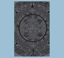 Aztec Calendar by Chillee Wilson Kids Tee