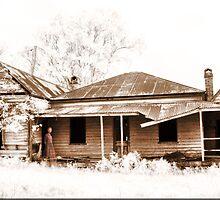 Ghostly Homestead Sepia by Kym Howard