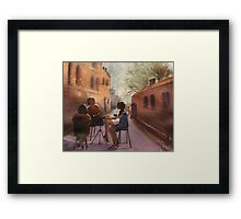 Cappuccino Courtyard Framed Print