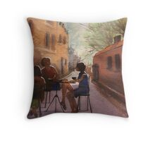Cappuccino Courtyard Throw Pillow