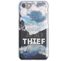 Thief Lyrics iPhone Case/Skin