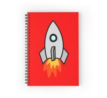 Rocket Ship 2 by Chillee Wilson Spiral Notebook