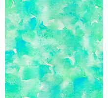 Lovely abstract art watercolor pattern in seafoam green. Photographic Print