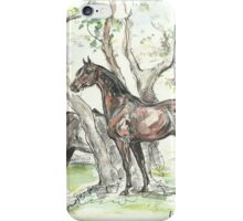 """Landscape with horses"" iPhone Case/Skin"