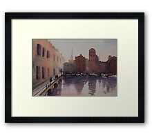 By the Docks Framed Print