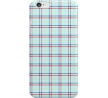 Tartan effect Red White Blue flag iPhone Case/Skin