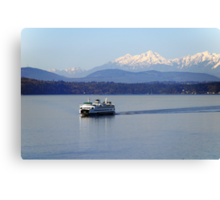 Seattle Ferry on Puget Sound Canvas Print