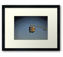 Traffic Lights New York City Framed Print